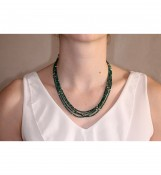 Collier 4 rangs Malachite