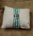 Bracelet 3 Rangs en Turquoise