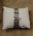 Bracelet 3 Rangs en Hématite teintée en brun