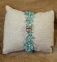 Bracelet 3 rangs en apatite et argent 925