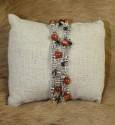 Bracelet 2 rangs tressé, perles en pierre de soleil argent 925 et cristal de swarovski